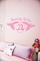 Wall Tattoo Boxing Girls